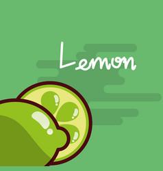 lemon fruit delicious shiny poster vector image