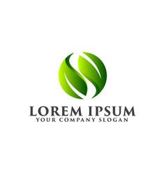 Letter s leaf logo natural logos concept design vector