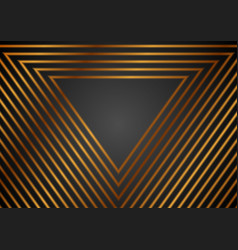 luxury golden abstract triangles geometric vector image