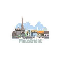 Maastricht city in netherlands city landscape vector