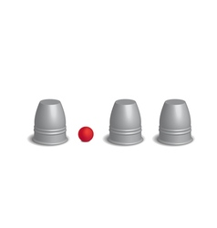 Magic three cups game set 3d vector image