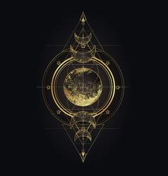 Moon magic triple pagan wicca goddess vector