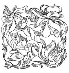 Ornamental iris 3 vector