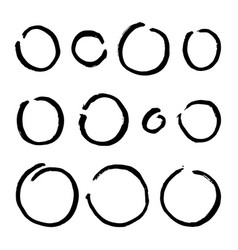 Paint brush circles vector