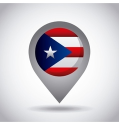 Puerto rico flag pin vector