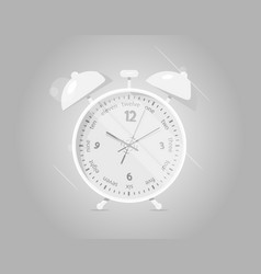 realistic alarm clock dark background vector image