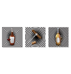 realistic premium wine elements set vector image