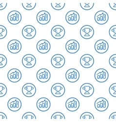 seamless pattern with blue vector image