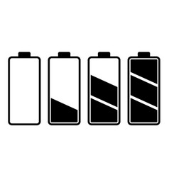 set of battery charge level indicator vector image