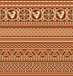 slavic ornament seamless vector image
