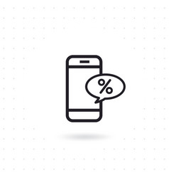 smartphone with a text message discount vector image