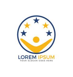 star human logo vector image