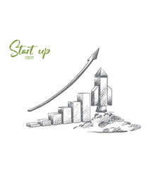 start up concept hand drawn isolated vector image