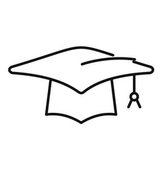 Student graduation hat icon outline school vector