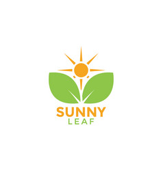 sunny leaf graphic design template vector image