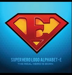 Superhero logo icon with letter e vec vector