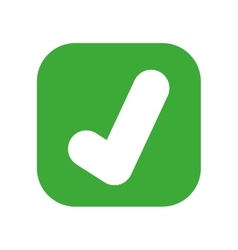 symbol ok button isolated icon design vector image