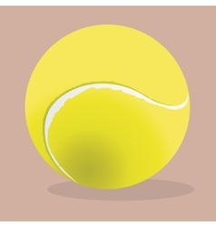 Tennis ball realistic Sport vector