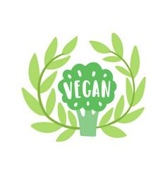 vegan lettering vector image