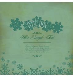 vintage festive background vector image