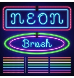 Vintage neon electric stroke custom pattern vector image