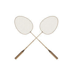 badminton rio icon design player racket sport vector image