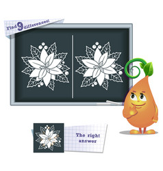 game find 9 differences flower vector image