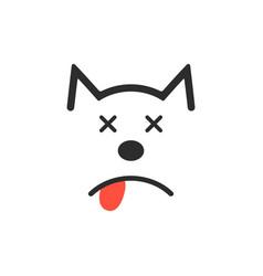 simple dead dog icon vector image vector image