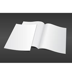blank magazine on dark background vector image vector image