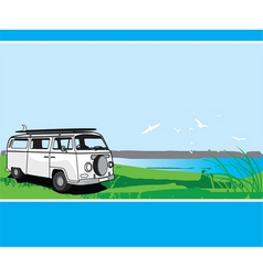 campervan tour vector image vector image