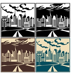 city and highway vector image vector image