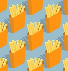 French fries seamless pattern Sliced potatoes in vector image