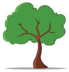 green tree vector image