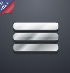List menu content view options icon symbol 3d vector