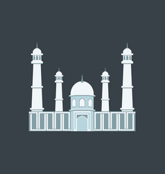muslim mosque in a flat style vector image vector image