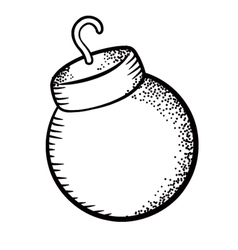Christmas ball doodle vector image vector image