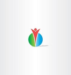 circle man logo design vector image vector image