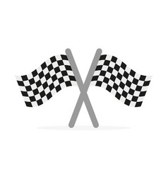 crossed finishing flags vector image