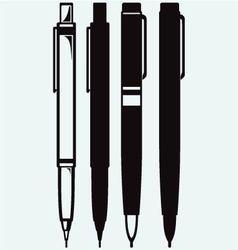 Pencil pen and fountain pen icons vector image