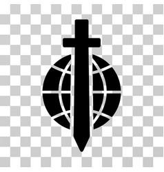 sword globe icon vector image