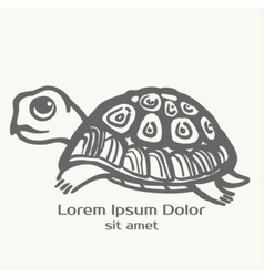 Turtle hand drawn Logo template vector image vector image