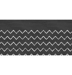 chalk chevron blackboard horizontal border vector image