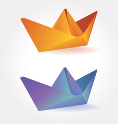 colorful paper boats vector image vector image