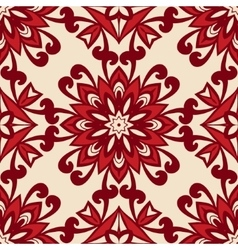 floral retro vintage seamless pattern vector image vector image