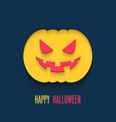 happy halloween flat paper card vector image