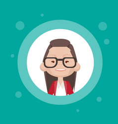 Profile icon female avatar woman cartoon portrait vector