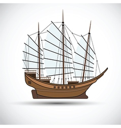 Sailing ship3 vector image