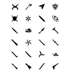 Weapons Icons 5 vector image
