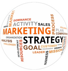 word cloud marketing strategy vector image vector image