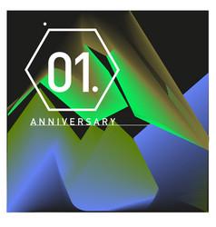 1 years anniversary celebration design template vector